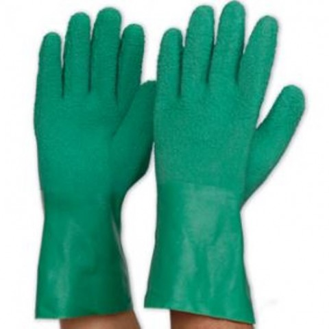 Green Latex Glove