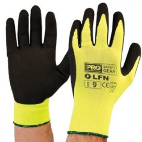 Hi Vis Latex Foam Glove